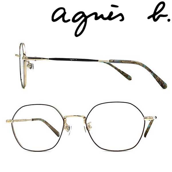 agnes b. メガネフレーム アニエスベー レディース ライトゴールド×ブラウン メガネフレーム 眼鏡 AB-50-0057-02 ブランド