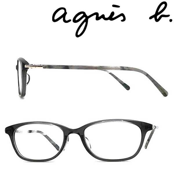 agnes b. メガネフレーム アニエスベー レディース スモーク メガネフレーム 眼鏡 AB-50-0061-03 ブランド