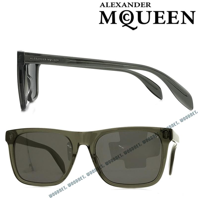 Alexander McQueen サングラス UVカット アレキサンダーマックイーン ブラック メンズ&レディース AMQ-0112S-001 ブランド