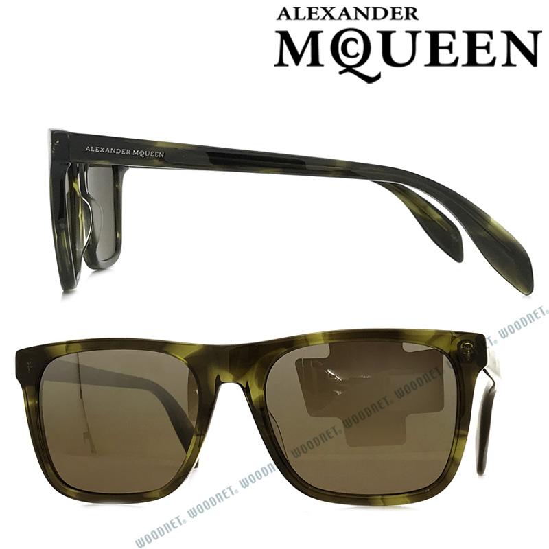 Alexander McQueen サングラス アレキサンダーマックイーン ブラウン メンズ&レディース AMQ-0112S-003 ブランド