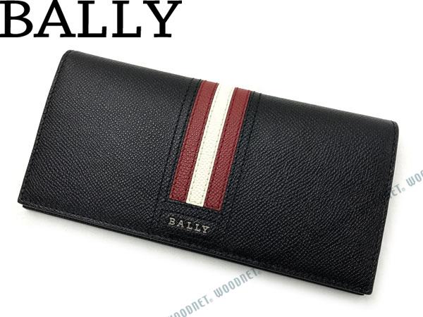 BALLY バリー 長財布 ブラック×レッド×ホワイト TRIGOLT-10 ブランド/メンズ/男性用