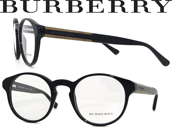 1454caa5880 BURBERRY eyeglass frame black × woodgrain Boston-Burberry eyeglasses  glasses 0BE-2115-3001 WN 0038 branded mens   ladies   men for   woman sex  for and once ...