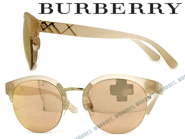 BURBERRY サングラス バーバリー メンズ レディース ピンクベージュミラー 0BE-4241-3642-7J ブランド