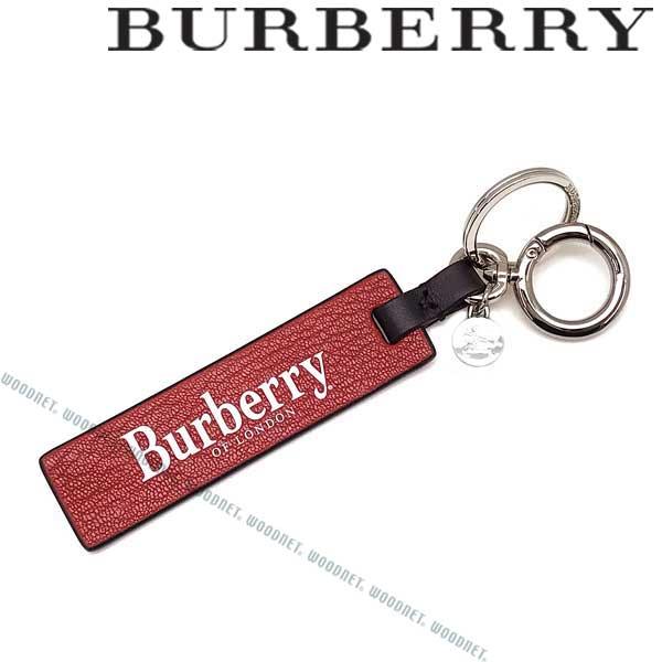 BURBERRY キーホルダー バーバリー メンズ タグロゴチャーム レザー レッド×ブラック 8006739-REDBLACK ブランド