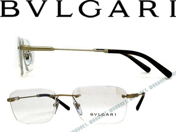 BVLGARI ブルガリ マットゴールド 縁無しメガネフレーム メガネフレーム 眼鏡 めがね 0BV-1097-2022 ブランド メンズ&レディース