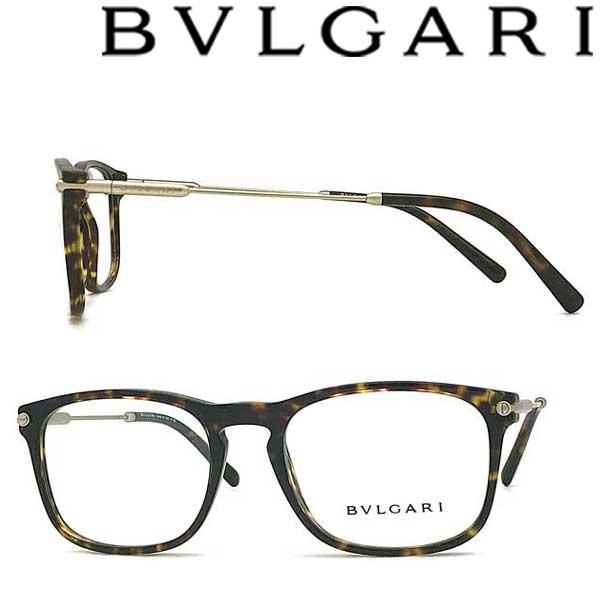 BVLGARI メガネフレーム ブルガリ メンズ レディース マーブルブラウン 眼鏡 0BV-3038-504 ブランド