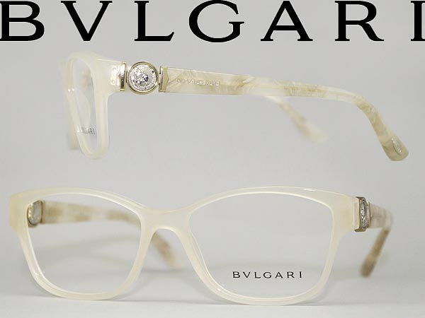 woodnet | Rakuten Global Market: Off white frame glasses Bvlgari x ...