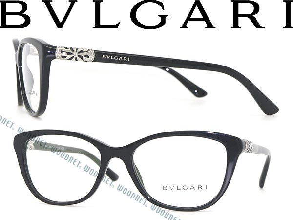woodnet | Rakuten Global Market: Bulgari eyeglasses frame black ...