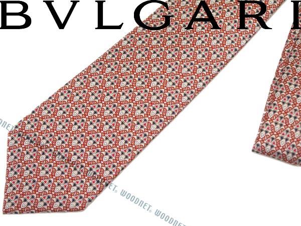BVLGARI ブルガリ ネクタイ コーラル「DIVA COSMO」 シルク241536-CORAL ブランド/メンズ/男性用