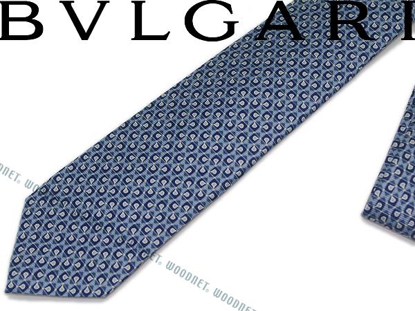 BVLGARI ブルガリ ネクタイ 242189 ブルー 「DIVA COMPASS」 シルクブランド ビジネス/メンズ/男性用