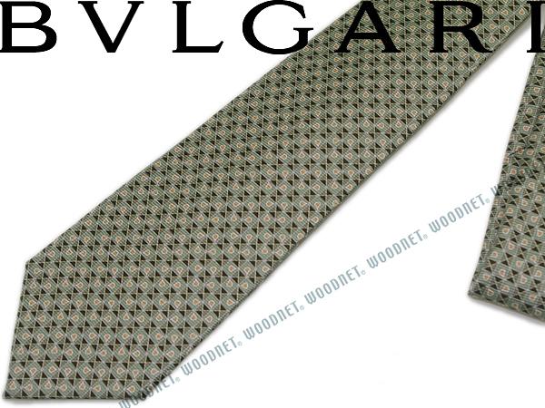 BVLGARI ブルガリ ネクタイ 242190 グリーン 「DIVA COMPASS」 シルクブランド ビジネス/メンズ/男性用