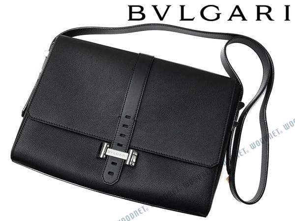 BVLGARI メッセンジャーバッグ ブルガリ 鞄 レザー ブラック 284100 ブランド