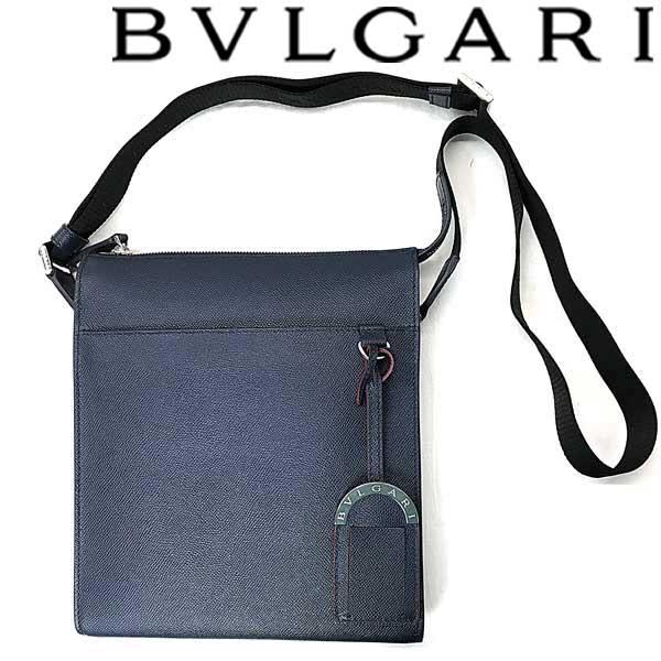 BVLGARI バッグ ブルガリ メンズ 型押しレザー メッセンジャー デニムサファイア 39389 ブランド