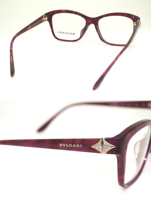 Woodnet Bvlgari Bvlgari Glasses Frame Marble Purple
