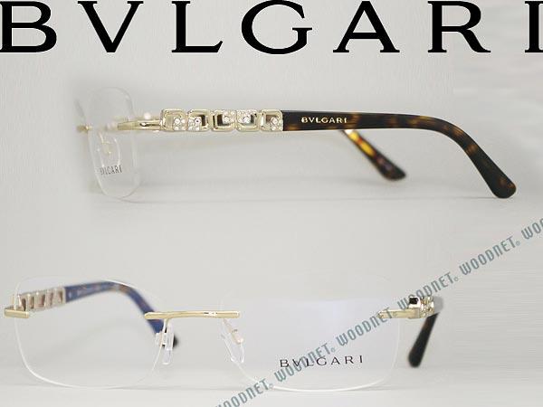 woodnet: BVLGARI Bulgari eyeglasses frame glasses champagne rimless ...