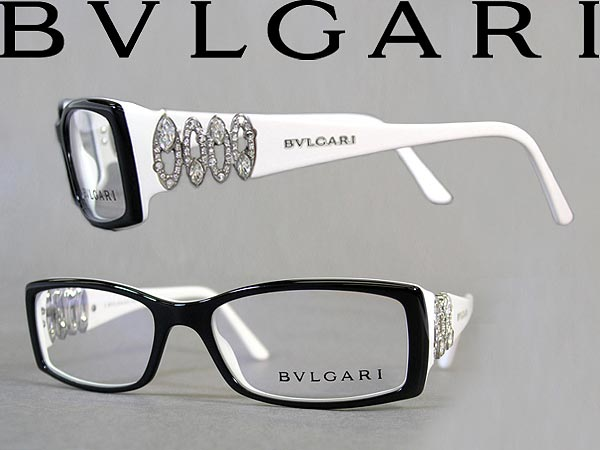 7972edf9ae Bvlgari BVLGARI glasses frame spectacles glasses rhinestones black x white 0  BV-4019B-5005 brands and men s   women s   men s   women   degree with ITA  ...