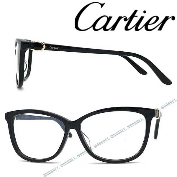 Cartier メガネフレーム カルティエ メンズ&レディース ブラック 眼鏡 CT-0129OA-001 ブランド