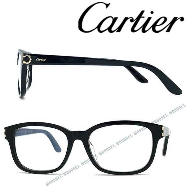 Cartier メガネフレーム カルティエ メンズ&レディース ブラック 眼鏡 CT-0133OA-001 ブランド