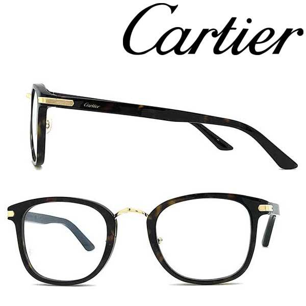 Cartier メガネフレーム カルティエ メンズ&レディース ダークマーブルブラウン 眼鏡 CT-0146O-002 ブランド