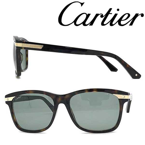 Cartier サングラス カルティエ メンズ&レディース グリーンブラック CT-0190S-003 ブランド