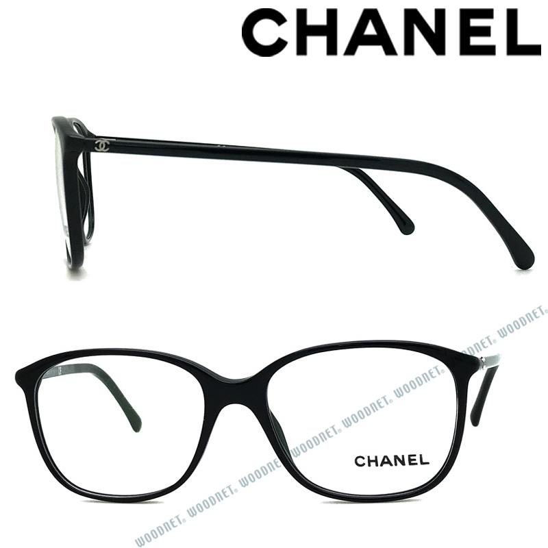 CHANEL メガネフレーム シャネル レディース 眼鏡 ブラック 0CH-3219-C501 ブランド