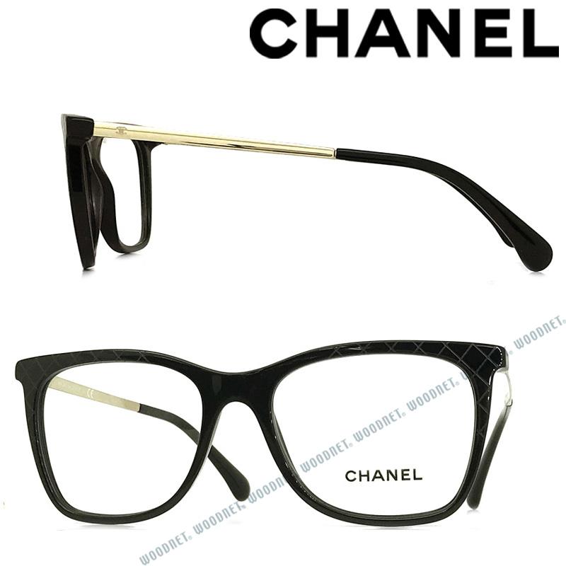 CHANEL メガネフレーム シャネル レディース 眼鏡 ブラック 0CH-3379-C501 ブランド