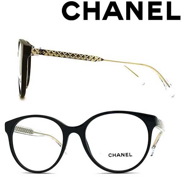 CHANEL メガネフレーム シャネル レディース ブラック 眼鏡 0CH-3401-C501 ブランド