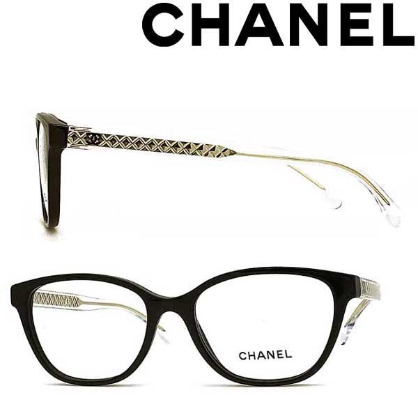 CHANEL メガネフレーム シャネル レディース ブラック 眼鏡 0CH-3402-C501 ブランド