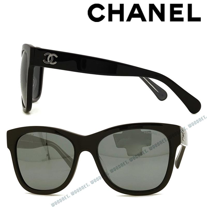 CHANEL サングラス UVカット シャネル ミラーブラック レディース 0CH-5380A-160826 ブランド