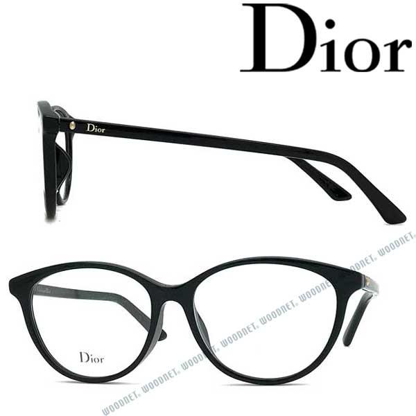 Christian Dior メガネフレーム クリスチャンディオール レディース ブラック 眼鏡 CRD-MONTAIGNE54F-807 ブランド
