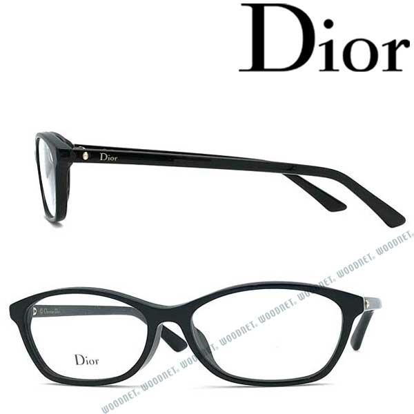 Christian Dior メガネフレーム クリスチャンディオール レディース ブラック 眼鏡 CRD-MONTAIGNE56F-807 ブランド