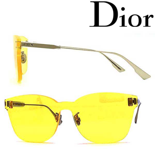 Christian Dior サングラス クリスチャンディオール レディース イエロー 縁無し DIORCOLORQUAKE2-40G-HO ブランド