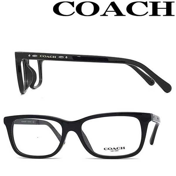 COACH メガネフレーム コーチ メンズ&レディース ブラック 眼鏡 HC6136U-5002 ブランド