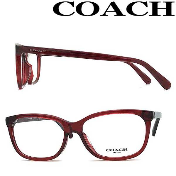 COACH メガネフレーム コーチ メンズ&レディース クリアーレッド 眼鏡 HC6139U-5557 ブランド