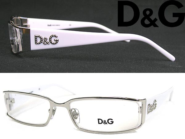 d g glasses frame spectacles glasses metal d g logo white - White Frame Glasses