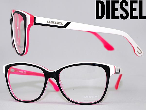 87fd591c282b Glasses frame diesel black x White x fluorescent pink DIESEL eyeglasses  glasses DL-5013-05 A branded mens   ladies   man sex for   woman sex for  and degrees ...