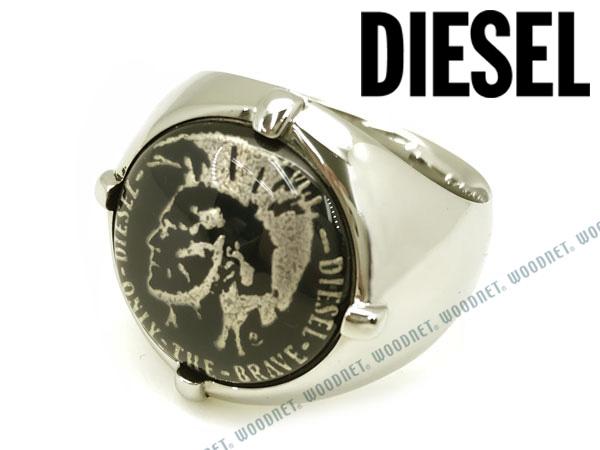 DIESEL 指輪 リング ディーゼル メンズ&レディース シルバー×ブラック DX0742040 ブランド