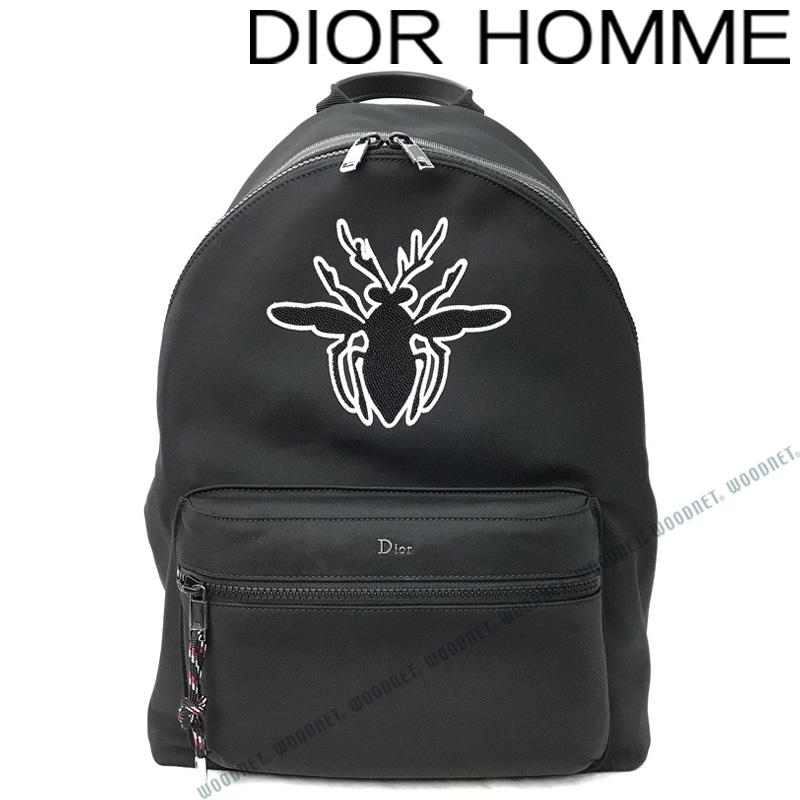 DIOR HOMME バッグ ディオールオム メンズ BEEパッチ Rider バックパック バック 鞄 ナイロン ブラック リュックサック 1PFBA064-YCAH03E ブランド