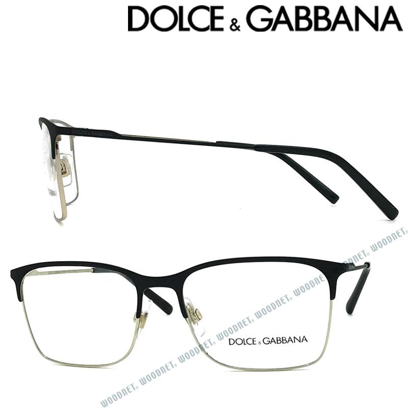 DOLCE&GABBANA メガネフレーム ドルチェ&ガッバーナ メンズ&レディース マットブラック×シャンパンゴールド DG1289-1305