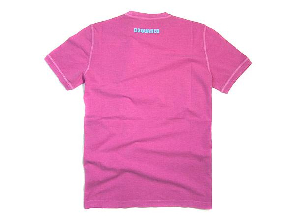 供disukueado短袖T恤DSQUARED2 BEACH VOLLEY粉紅GC591-20694-055名牌/人/男性使用
