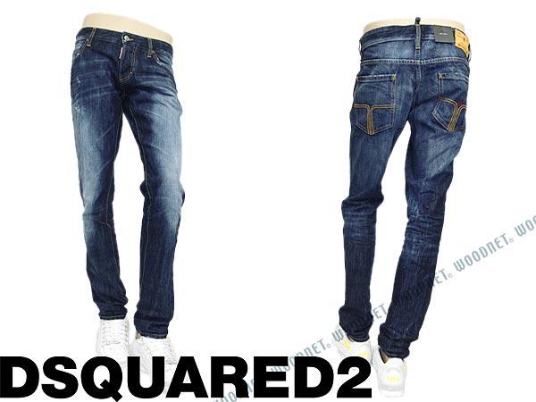 80b7b7c362e05 Brands   mens dsquared S74LA0549-S30281-470 blue jeans bottoms DSQUARED2  SLIM JEAN, denim for men