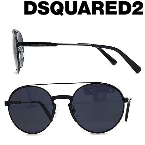 DSQUARED2 サングラス UVカット ディースクエアード メンズ&レディース ブラック DQ-0319-01A ブランド