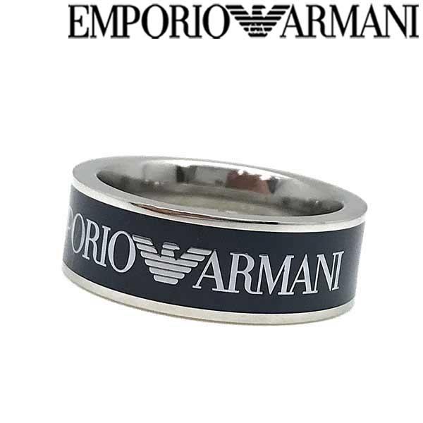 EMPORIO ARMANI リング・指輪 エンポリオアルマーニ メンズ&レディース ネイビー×シルバー EGS2607040 ブランド