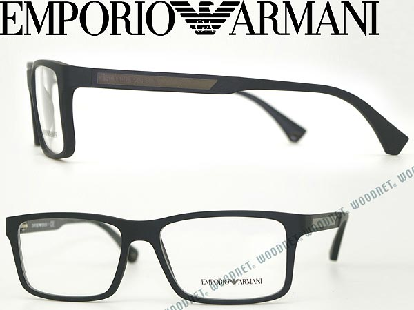 emporio armani emporio armani eyeglasses matte black glasses frames glasses ea 3038 5063 wn0054 - Emporio Armani Frames