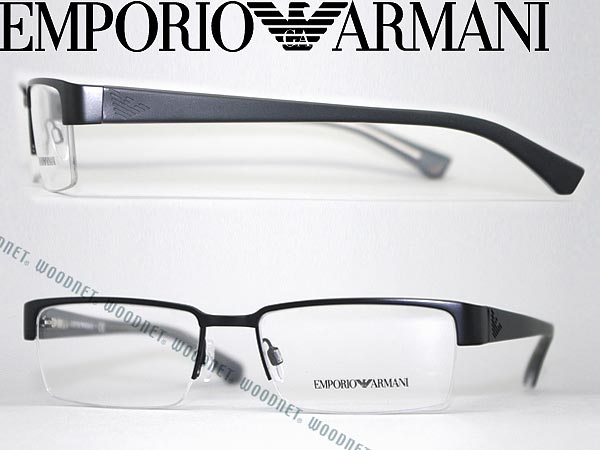 1fa0f731ceaa ... with the   degree for   women for glasses Emporio armani mat black Ney  roll type half rim EMPORIO ARMANI glasses frame glasses EMP-EA-1006-3001 ...