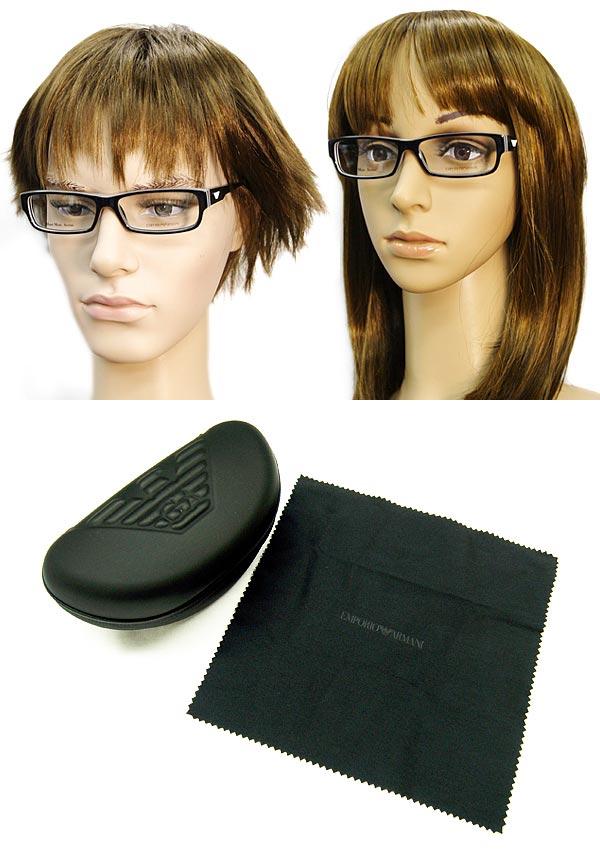 供供meganefuremuemporioarumani EMPORIO ARMANI眼鏡眼鏡黑色×白EMP-EA-9653-LI1名牌/人&女士/男性使用的&女性使用的/度從屬于的伊達、老花眼鏡、彩色·個人電腦事情PC眼鏡透鏡交換對應