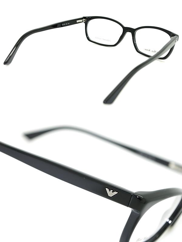 엔포리오아르마니 안경 블랙 EMPORIO ARMANI 안경 프레임 안경 EMP-EA-9787-807 브랜드/맨즈&레이디스/남성용&여성용/도 첨부・다테・돋보기・칼라・PC용 PC안경 렌즈 교환 대응/렌즈 교환은 6,800엔~