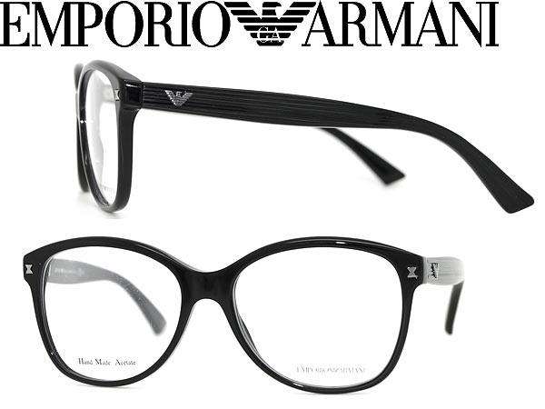 23e2b8cfd7 Emporio Armani glasses black EMPORIO ARMANI glasses frames glasses  EMP-EA-9861-807 branded/mens & ladies / men for & woman sex for and once  with ITA ...