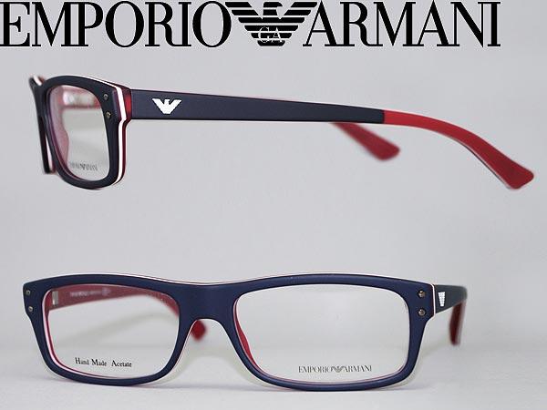 4ab59fcac195 Mat glasses Emporio Armani square type Navy x matte white EMPORIO ARMANI  glasses frames glasses EMP-EA-9865-YW0 branded mens   ladies   men for    woman sex ...
