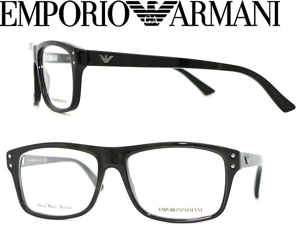 ff8c3fcdf66 EMPORIO ARMANI eyeglass frame black Emporio Armani eyeglasses glasses  EMP-EA-9866-C1M branded mens   ladies   men for   woman sex for and once  with ITA ...